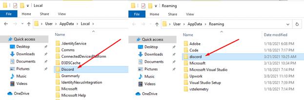 Discord Download Error Cache Folder