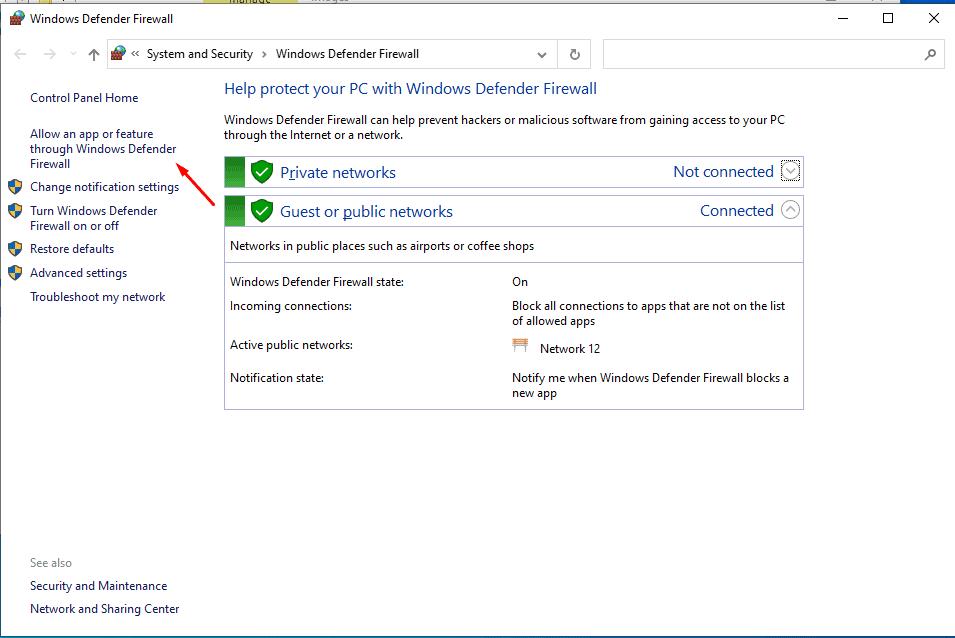 Discord RTC Connecting No Route Allow An App Through Windows Firewall