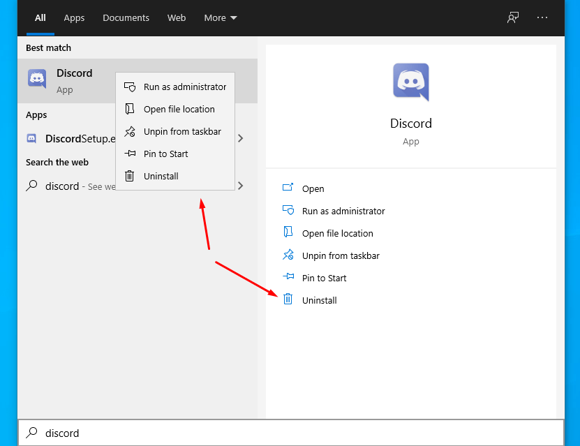 Discord Update Failed Loop Uninstall Discord