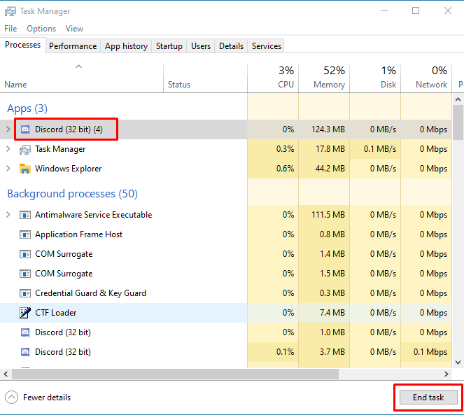 Discord Wont Open Task Manager End Task
