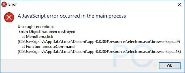 Javascript Error Discord
