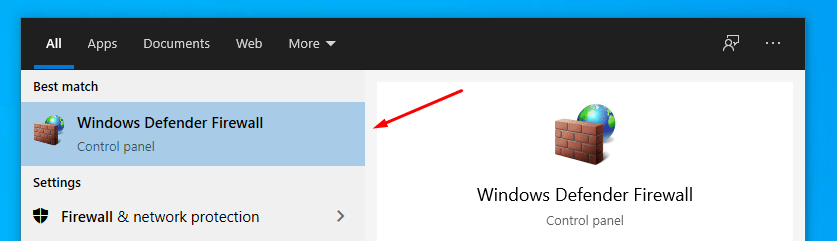 RTC Connecting No Route Windows Defender Firewall