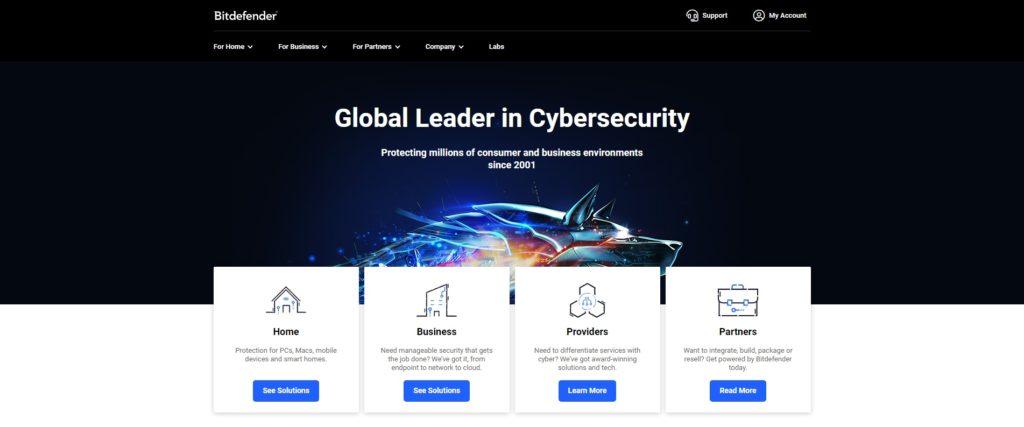 Bitdefender Antivirus Plus Website