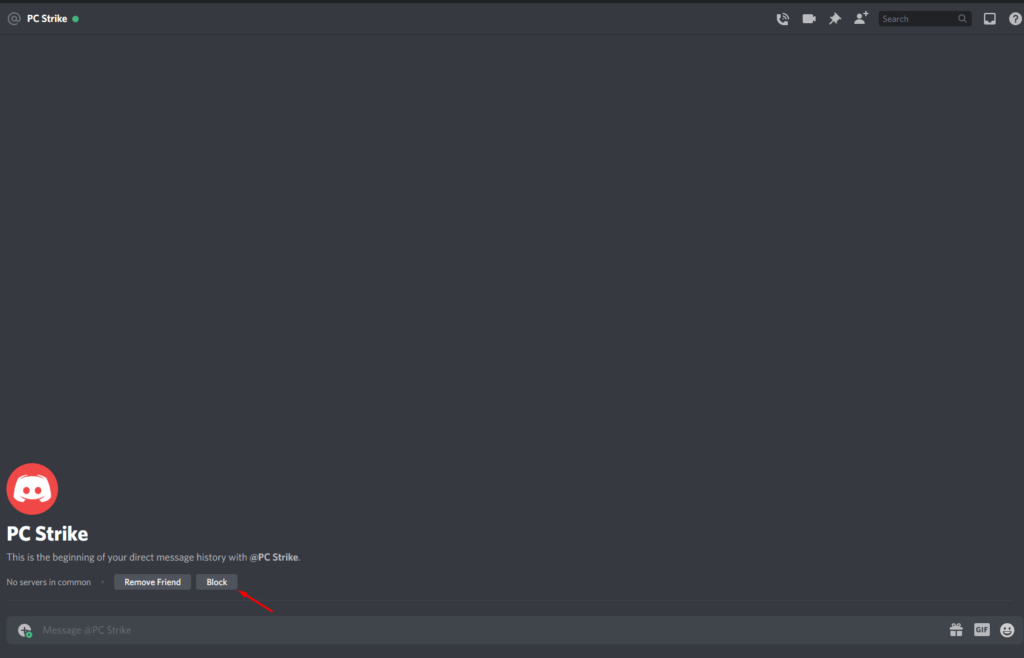 Blocking Someone On Discord