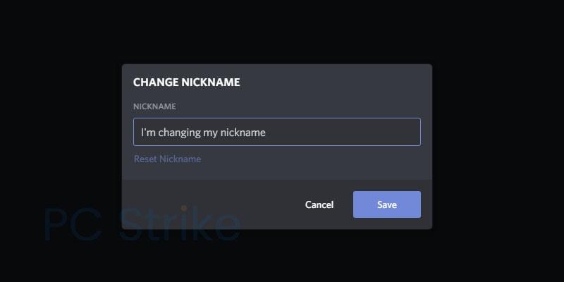 Change Discord Name