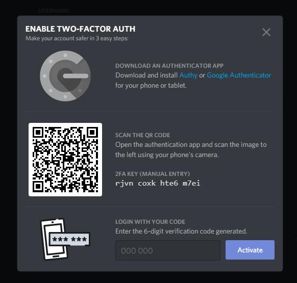 Change Password Discord