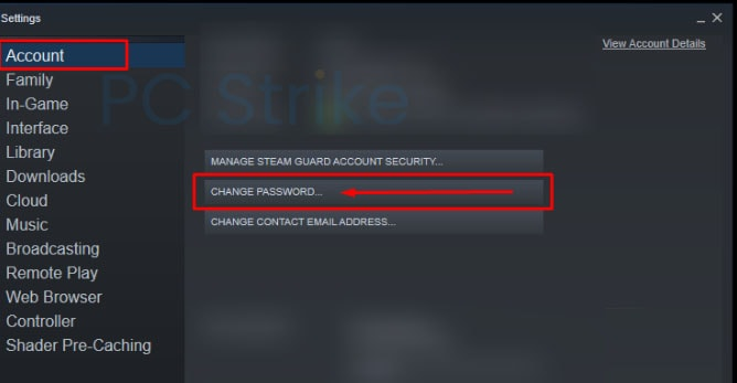 How To Change Password On Steam