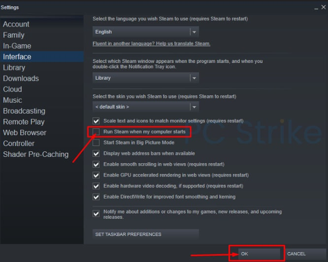 How To Disable Steam On Startup