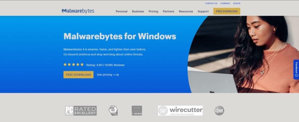 Malwarebytes Premium Website