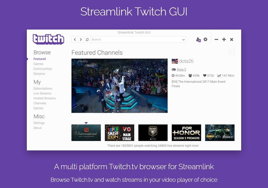 Streamlink with GUI