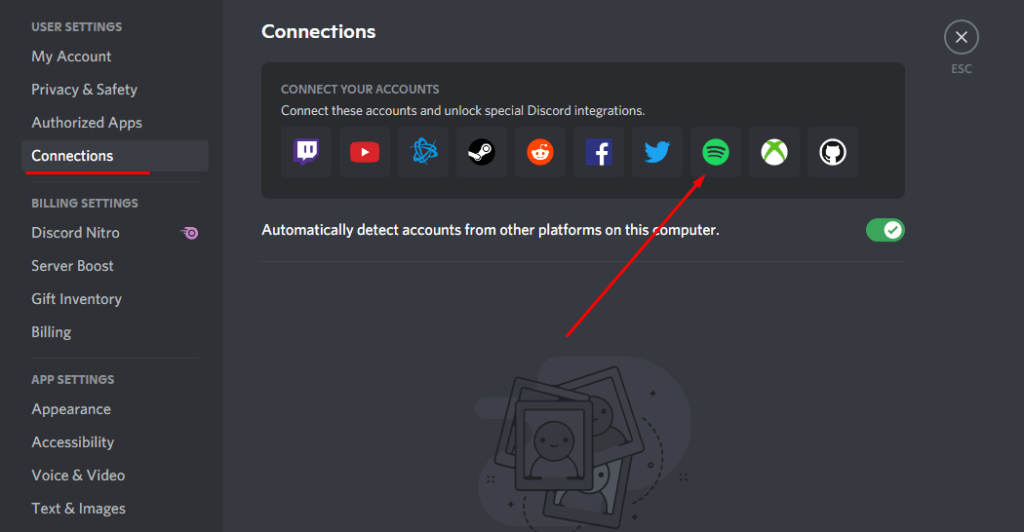 Connecting Spotify To Desktop