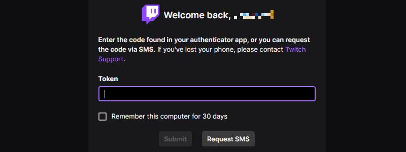Twitch Authenticator Token