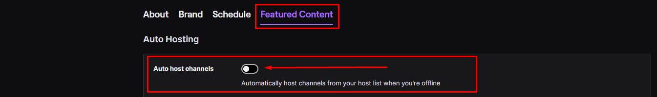 Twitch Auto host channels