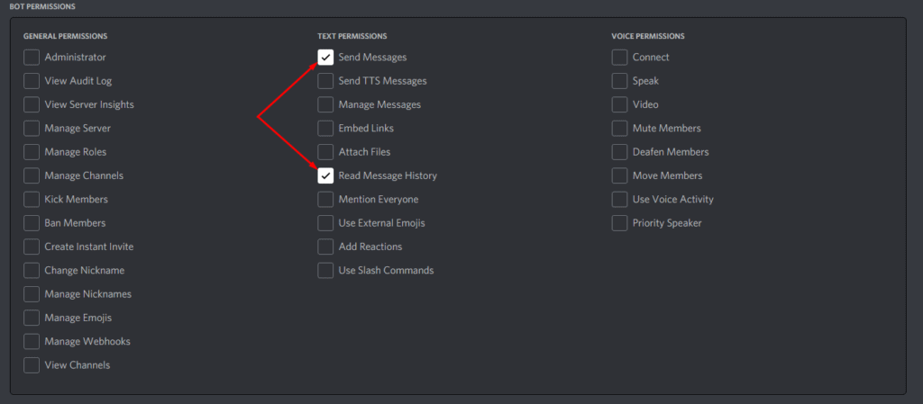 Discord Send Messages and Read Message History