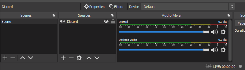 Discord on OBS