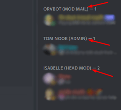 Mods and Admins in Discord server