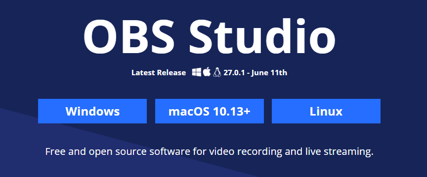 OBS versions for Windows macOS Linux