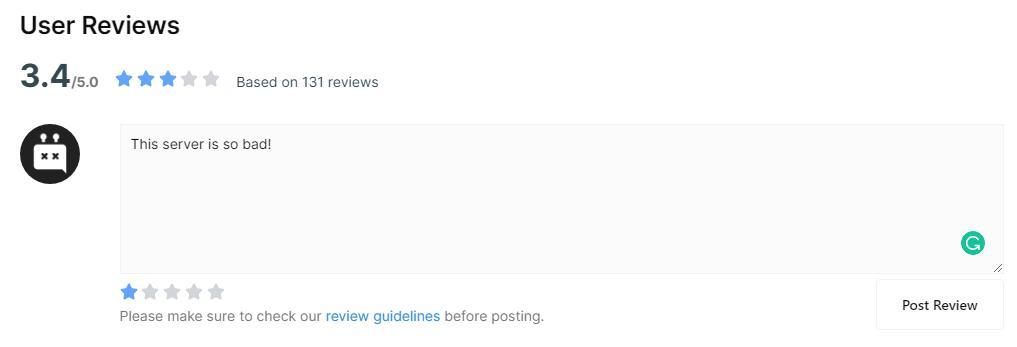 Report Discord Server