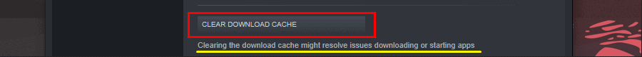 Steam Clear Download Cache