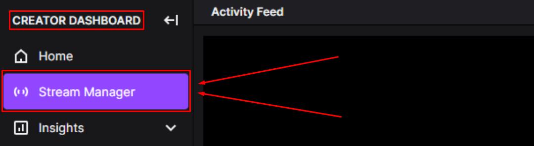 Twitch Creator Dashboard Stream Manager