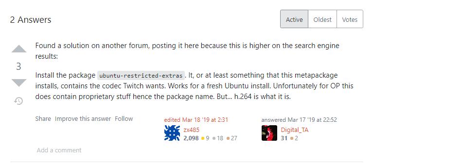 Ubuntu restricted extras discussion