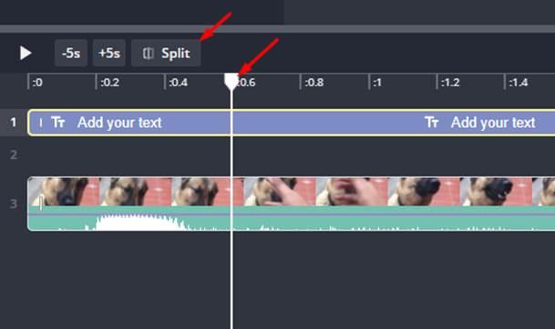 Video splitting using Kapwings image editing tool