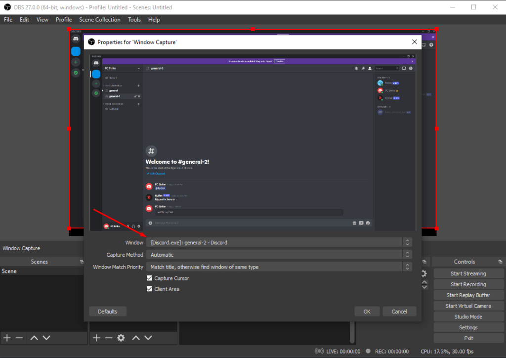 making Discord recording source on OBS