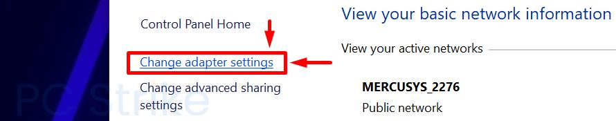Windows 10 Change Adapter Settings