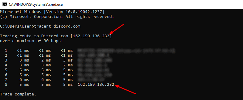 Discord IP address