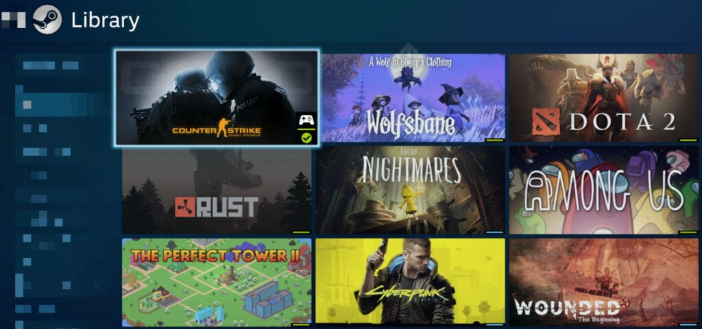 Steam Library Steam Client Big Picture Mode Windows 10