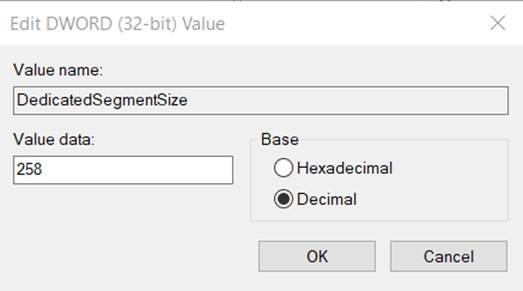 creating new DWORD (32 bit) Value in Registry Editor