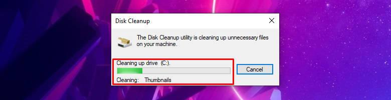 performing Disk Cleanup