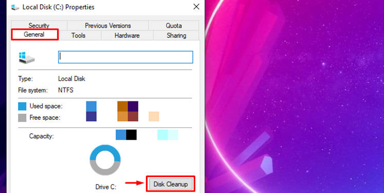 selecting Disk Cleanup